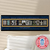 Personalized West Virginia University Campus Photo Letter Art - 13256