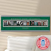 Michigan State University Personalized Campus Photo Letter Art - 13257