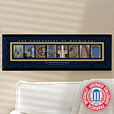 University of Michigan Personalized Campus Photo Letter Artwork - 13258