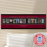 Personalized Florida State Campus Photo Letter Art - 13259
