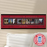 Campus Photo Personalized Letter Art - University of Wisconsin - 13260