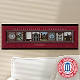 Personalized University of Oklahoma Campus Photo Letter Art - 13264