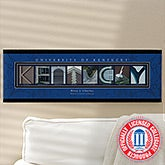 Personalized University of Kentucky Campus Photo Letter Artwork - 13265