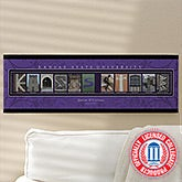 Kansas State Personalized Campus Photo Letter Art - 13266