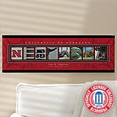 Personalized University of Nebraska Campus Photo Letter Art - 13267
