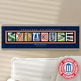 Personalized Syracuse University Campus Photo Letter Artwork - 13268