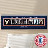 Personalized Campus Photo Letter Art - University of Virginia - 13269