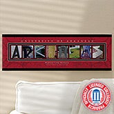 University of Arkansas Personalized College Campus Photo Letter Artwork - 13271