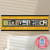 Personalized Georgia Tech University Campus Photo Letter Art - 13276