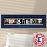 Personalized Marquette University Campus Photo Letter Art - 13277