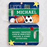Personalized Boys Luggage Tags - Sports - 13291
