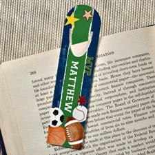 Personalized Sports Bookmarks - Ready, Set, Score - 13292