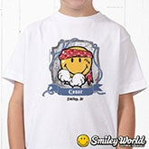 Personalized Kids Clothes - Pirate Smiley Face - 13298