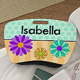 Personalized Girls Lap Desk - Flowers - 13304