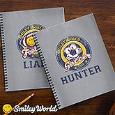 Personalized Kids Notebooks - Smiley Sports - 13313