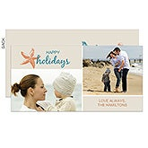 Personalized Photo Holiday Postcard Christmas Cards - Tropical Paradise - 13320