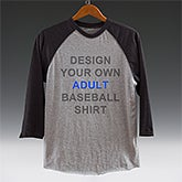 Design Your Own Baseball T-Shirt - 3/4 Length Raglan Sleeves - 13326