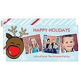 Personalized Photo Postcard Christmas Cards - Playful Reindeer - 13334