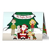 Personalized Christmas Cards - Picture With Santa - 13344