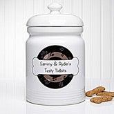 Personalized Dog Treat Jar - Throw Me A Bone - 13348