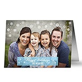 Personalized Photo Christmas Cards - Let It Snow - 13352
