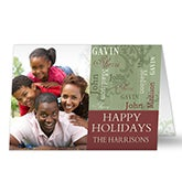 Personalized Family Photo Christmas Cards - Our Loving Family - 13357