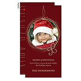 Personalized Photo Holiday Postcards - Christmas Wreath - 13364