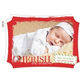 Personalized Photo Christmas Cards - Cherish The Season - 13370