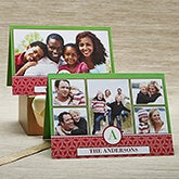 Personalized Photo Christmas Cards - Holiday Monogram - 13371