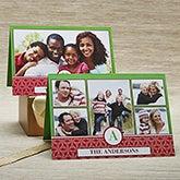 Personalized Photo Christmas Cards - Holiday Monogram - 13371
