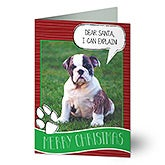 Personalized Pet Photo Christmas Cards - Pet Greeting - 13373