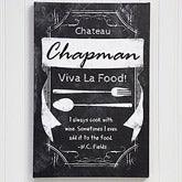 Personalized Canvas Prints - Kitchen Chalkboard - 13375