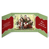Personalized Photo Christmas Cards - Classic Holiday Gatefold - 13377