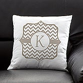 Personalized Throw Pillows - Posh Monogram - 13380
