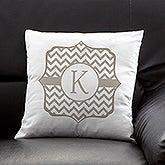 Personalized Throw Pillows - Posh Monogram - 13380