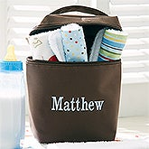 Personalized Bottle Bag for Boys with Burp Cloth Set - 13389