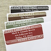 Custom Return Address Labels - Holiday Bliss - 13400