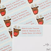 Christmas Return Address Labels - Reindeer - 13415