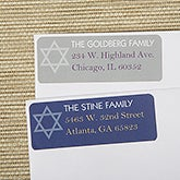 Personalized Hanukkah Return Address Labels - 13420