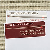 Personalized Christmas Address Labels - Holiday Wreath - 13421