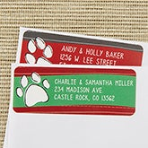 Return Address Labels - Pet Paw Print - 13424