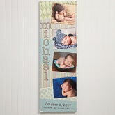 Personalized Baby Collage Canvas Print - Scrapbook Memories - 13427