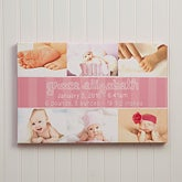 Personalized Baby Photo Canvas Prints - Precious Little One - 13434