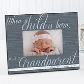 Personalized Grandparent Picture Frames - A Grandparent Is Born - 13437