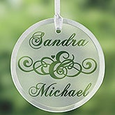 Etched Glass Suncatcher - Circle of Love Style - 1344