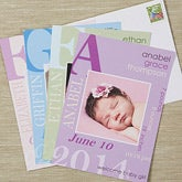 Personalized Photo Birth Announcements - All About Baby - 13443