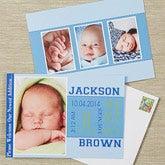 Photo Birth Announcements - Baby Boy's Big Day - 13444