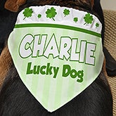 Personalized Dog Bandanas - Four Leaf Clovers - 13459