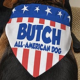 Personalized Dog Bandanas - Patriotic American Flag - 13460