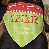 Personalized Dog Christmas Bandanas - Santa's Helper - 13462